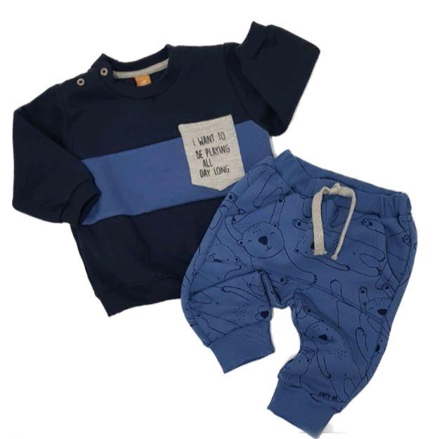 Conjunto Moletom Bears Azul