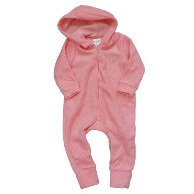 Macacão Longo Rosa Inverno Bebê