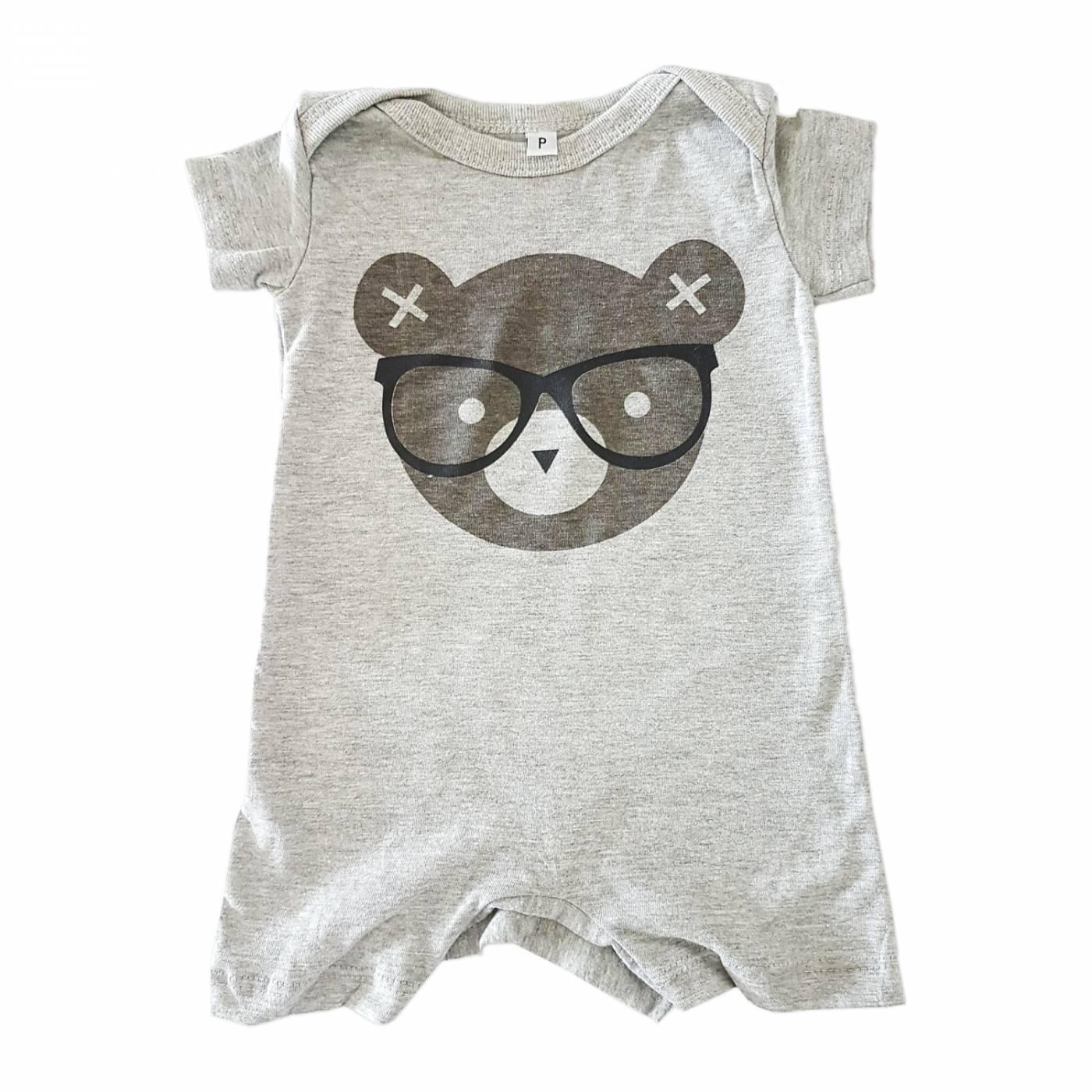 Macacão Urso Nerd