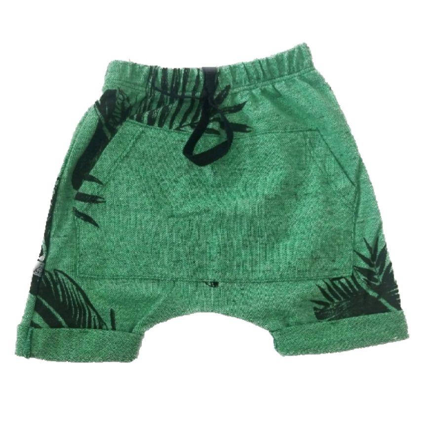 Short Saruel Bolso Canguru Verde Claro