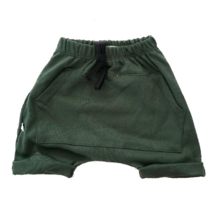 Short Saruel Bolso Canguru Verde Militar