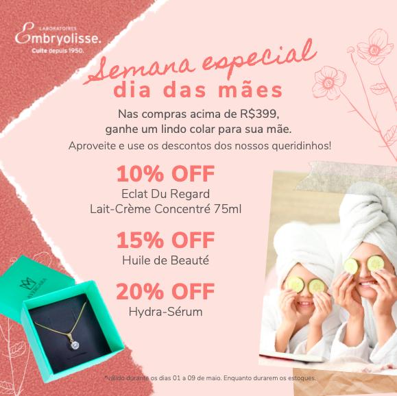 PRESENTE dias das mães, em compras acima de R$. 399,00  ganhe um lindo colar para presentear