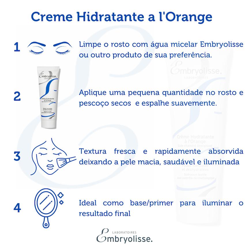 Creme Hidratante a l'Orange Embryolisse 50ml