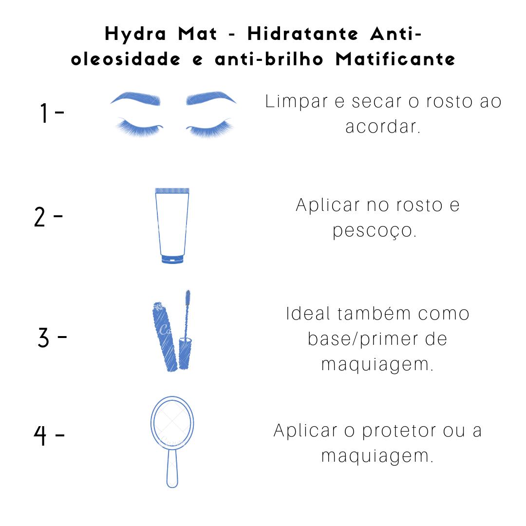 Hydra Mat - Hidratante Anti-oleosidade e anti-brilho Matificante