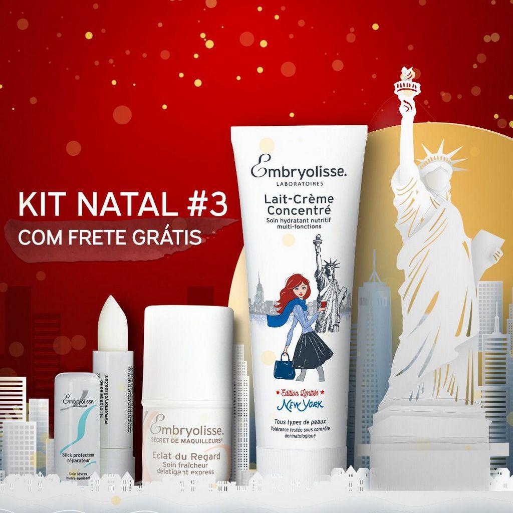 Kit natal 3 - Lait-Crème concentré edição especial New York +Stick protetor reparador Labial + Eclat du regard