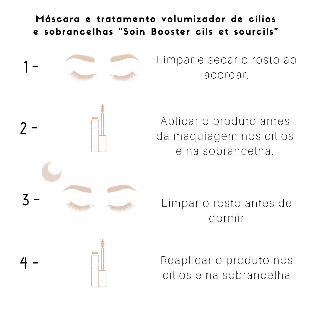 """Máscara e tratamento volumizador de cílios e sobrancelhas """"Soin Booster cils et sourcils"""" 6,5ml"""