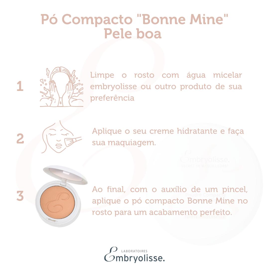 """Pó Compacto  Embryolisse """"Bonne Mine"""" Pele boa 12g"""