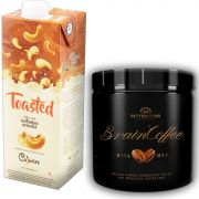1 Brain Coffee com MCT 200g e 1 Leite Vegetal Toasted 1lt