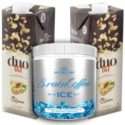 1 Brain Coffee ICE com MCT 200g e 2 Leite Vegetal Duolat 1lt