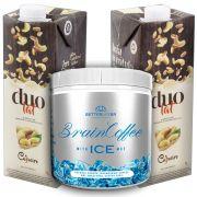1 Brain Coffee ICE com MCT 200g e 2 Leite Vegetal Duolat 1lt