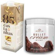 1 Bullet Cream com MCT 240g e 1 Leite Vegetal 85 Castanhas 1lt