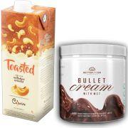 1 Bullet Cream com MCT 240g e 1 Leite Vegetal Toasted 1lt