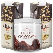 1 Bullet Cream com MCT 240g e 2 Leite Vegetal Duolat 1lt