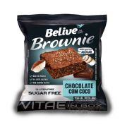 Brownie Chocolate e Coco Zero Açúcar 40g - Belive