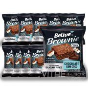 Brownie Chocolate e Coco Zero Açucar Sem Glúten Sem Lactose 10x40g - Belive