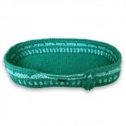 Cama Pet Oval Verde Feito a Mão Fio de Malha MimosbyBeth