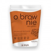 O Brownie Vegano Mistura Pronta Sem Glúten 576g Zaya