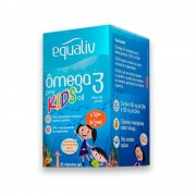 Omega 3 Pro Kids Oil 60 caps mastigaveis Equaliv