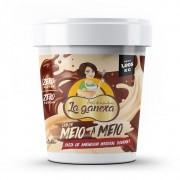 Pasta de Amendoim Integral Gourmet Meio a Meio 450g La Ganexa