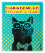 Placa Decorativa Senha do Wifi - CatMyPet