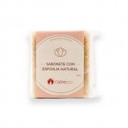 Sabonete com Esponja Natural Cativa Spa Vegetal 100g Cativa Natureza