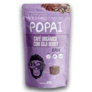 Snack RAW sabor Café Orgânico com Goji Berry 60g - Popai - Alimento Cru