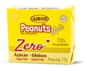 Paçoca Diet Peanuts Airon Display com 27un. Zero Açúcar