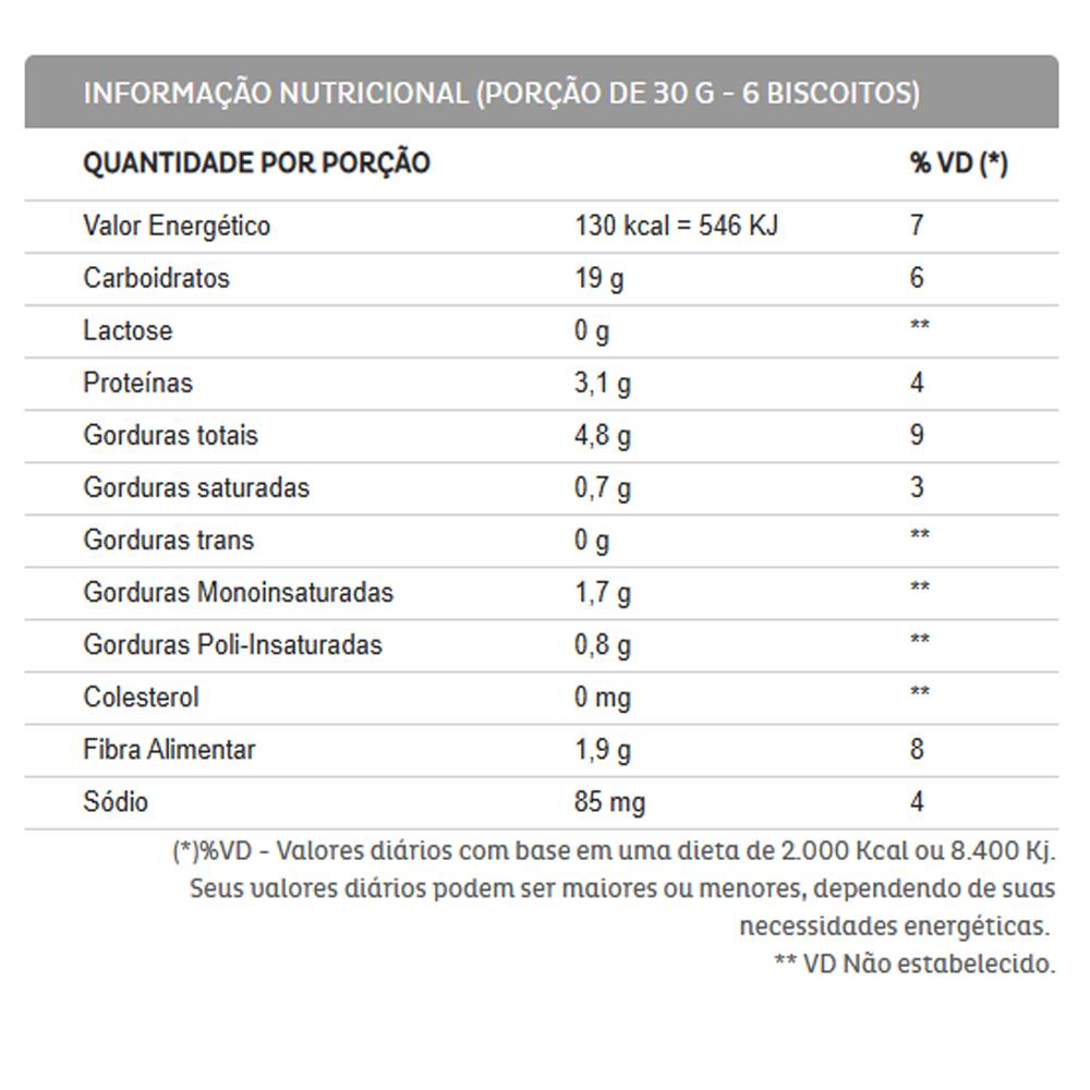 3un Biscoito Cream Cracker Integral 7 Grãos Sem Lactose 400g Liane