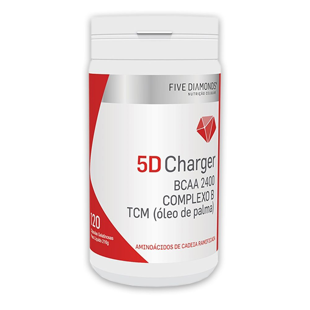5D Charger BCAA 2400 TCM Complexo B 120 cápsulas  Five Diamonds