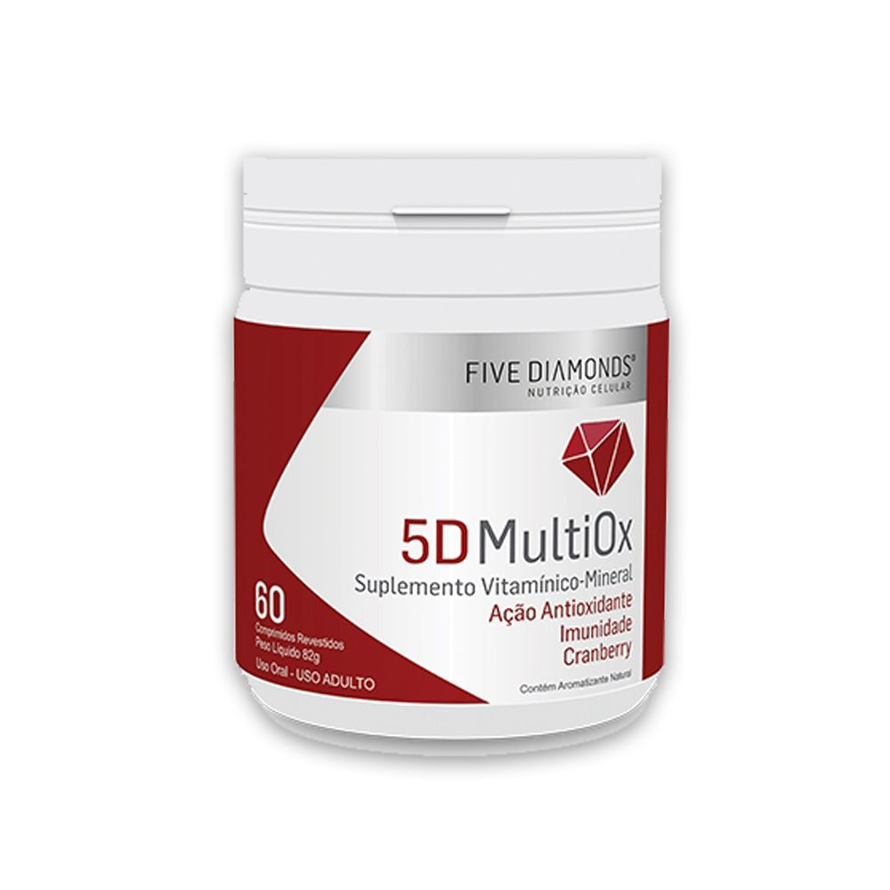 5D MultiOx Extrato de Cranberry 60 cápsulas  Five Diamonds