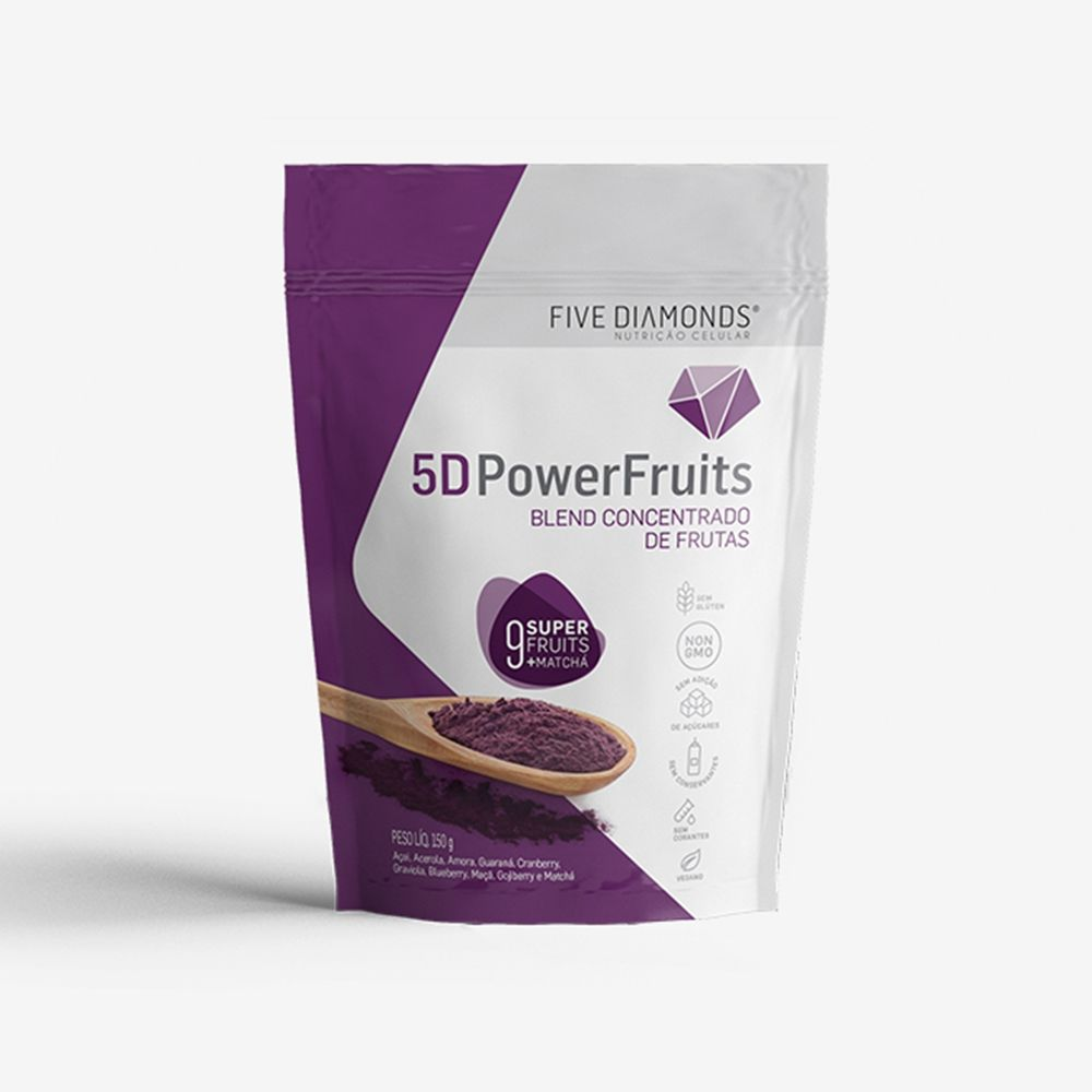 5D PowerFruit Blend Concentrado de Frutas 150g - Five Diamonds