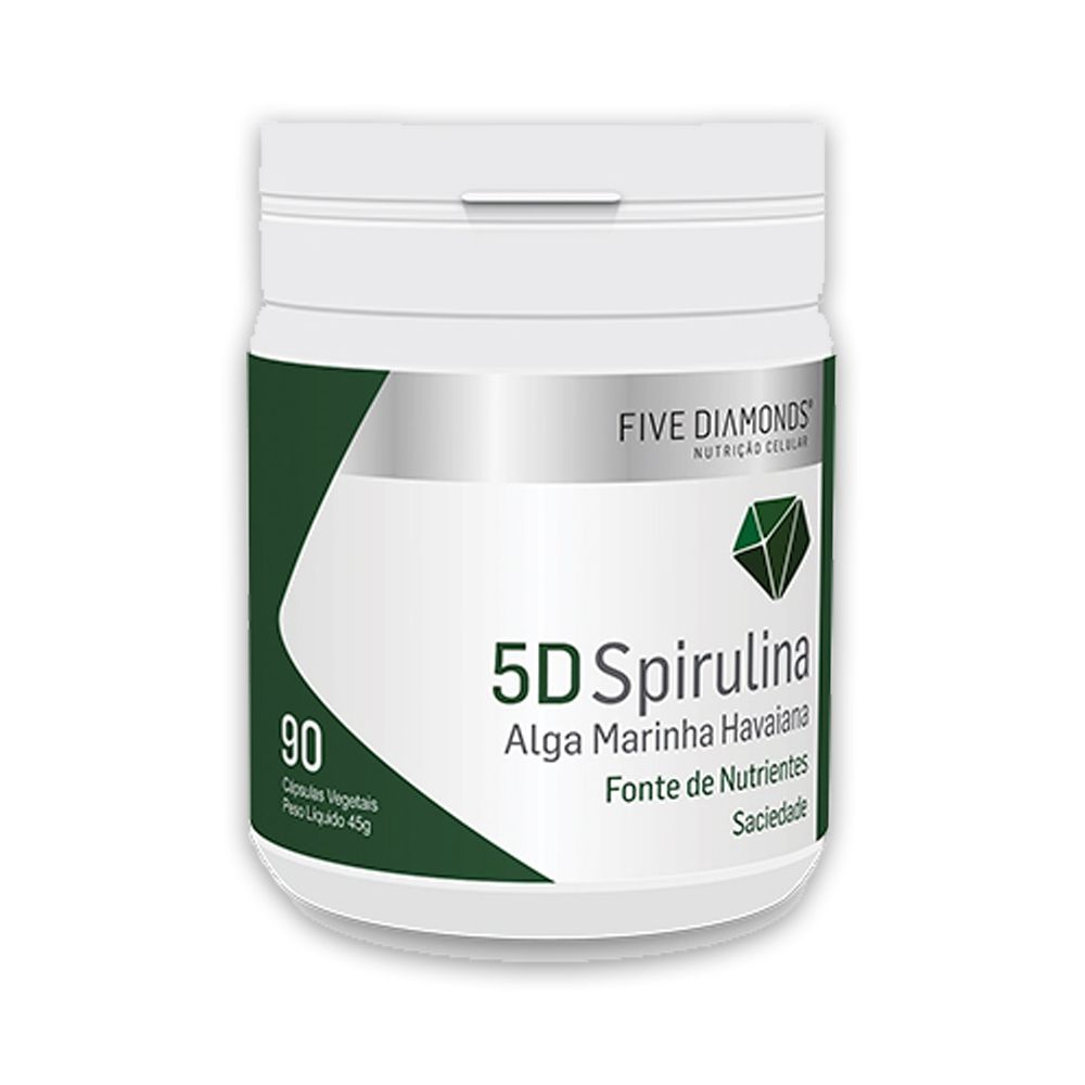 5D Spirulina 90 cápsulas veganas Five Diamonds