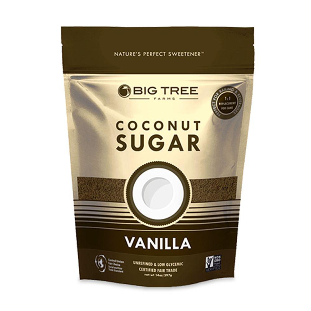 Açúcar de Coco Vanilla 397g - Big Tree Farms