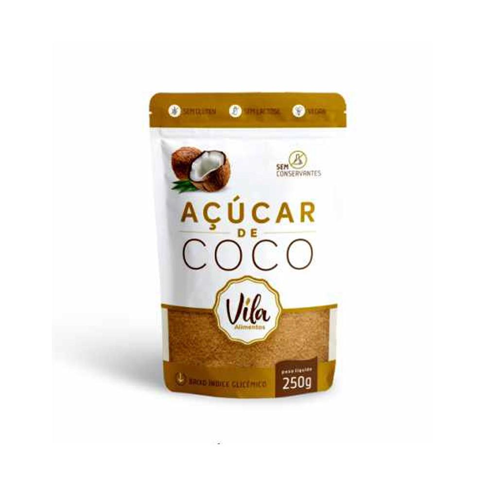 Açúcar de Coco Vegano 250g Vila Alimentos
