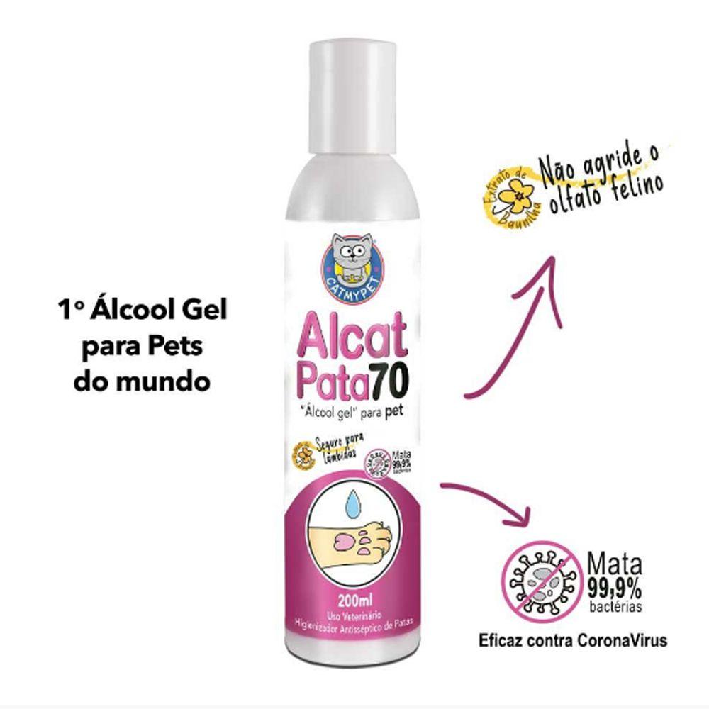 Alcat Pata 70 Álcool Gel para Pet 200ml CatMyPet