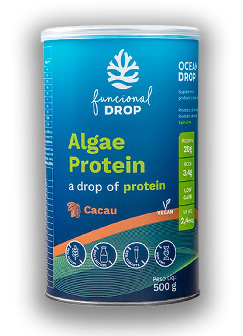 Algae Protein Cacau 500g Prteína Vegetal - Ocean Drop