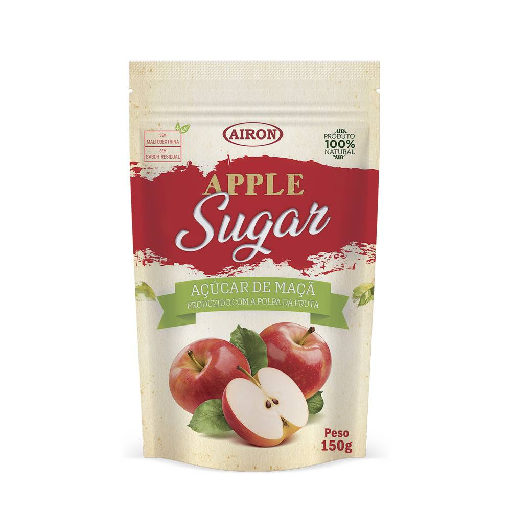 Apple Sugar Açúcar de Maçã Adoçante Natural 150g - Airon