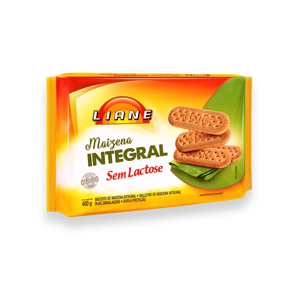 Biscoito Maizena Integral Sem Lactose 400g Liane