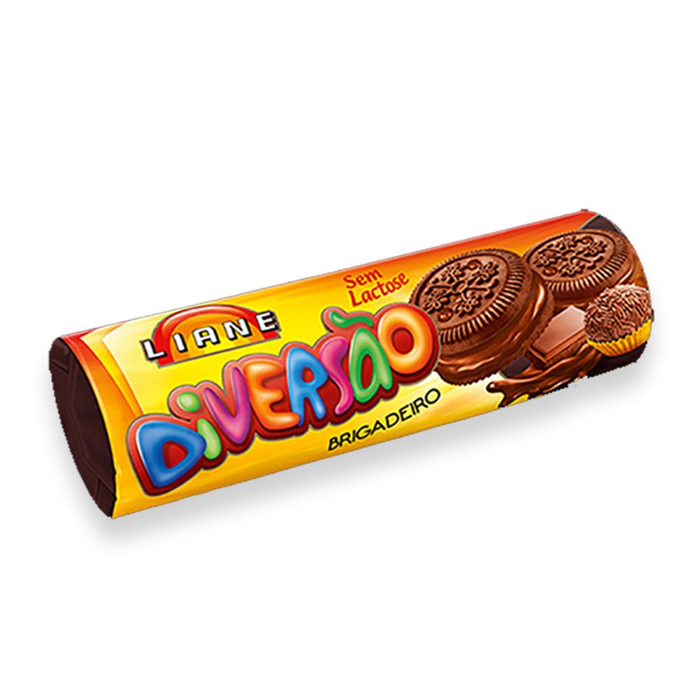 Biscoito Recheado Diversão Brigadeiro Sem Lactose 115g Liane