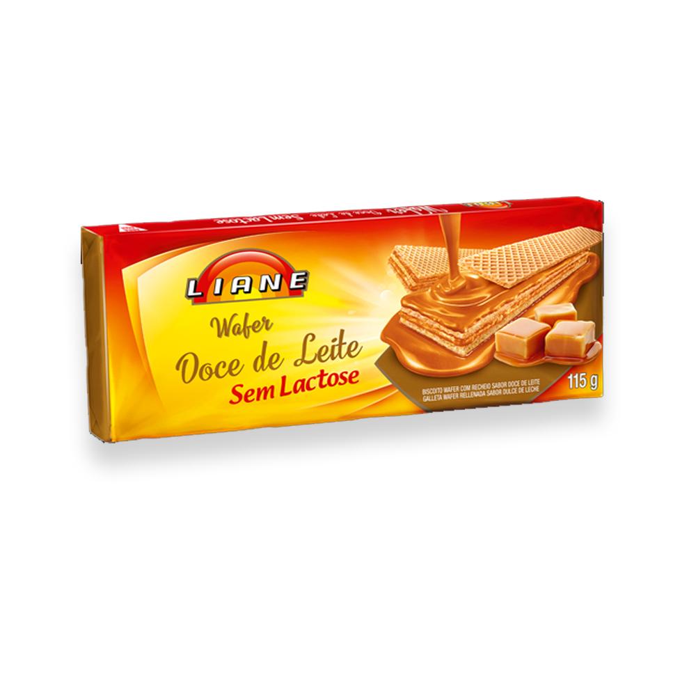 Biscoito Wafer Doce de Leite Sem Lactose 115g Liane