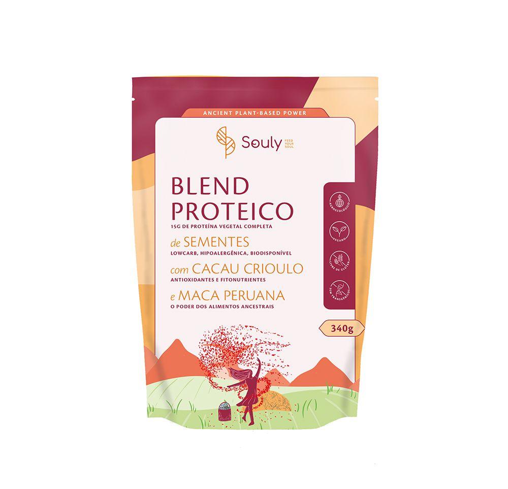 Blend Proteico Proteína de Sementes, Cacau Crioulo e Macas Peruana 340g - Souly