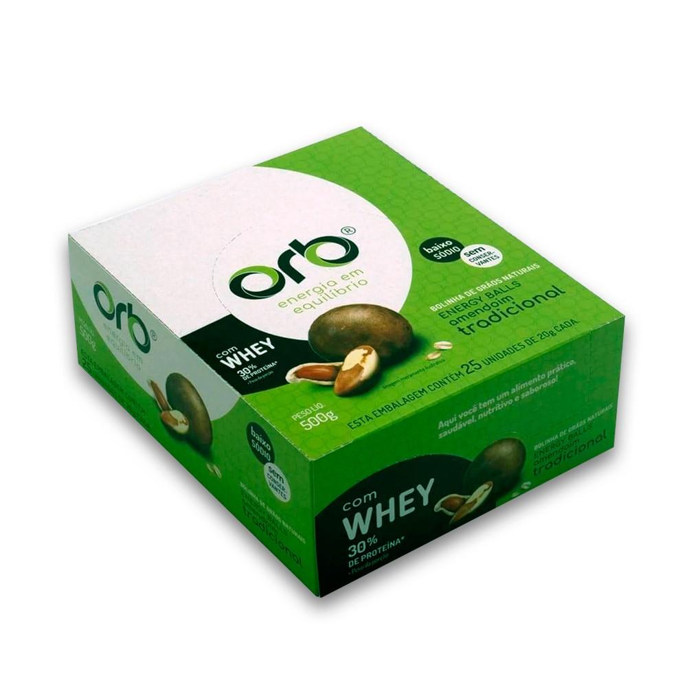 Bolinha de Proteina Tradicional com Whey 25un Orb Energy Balls