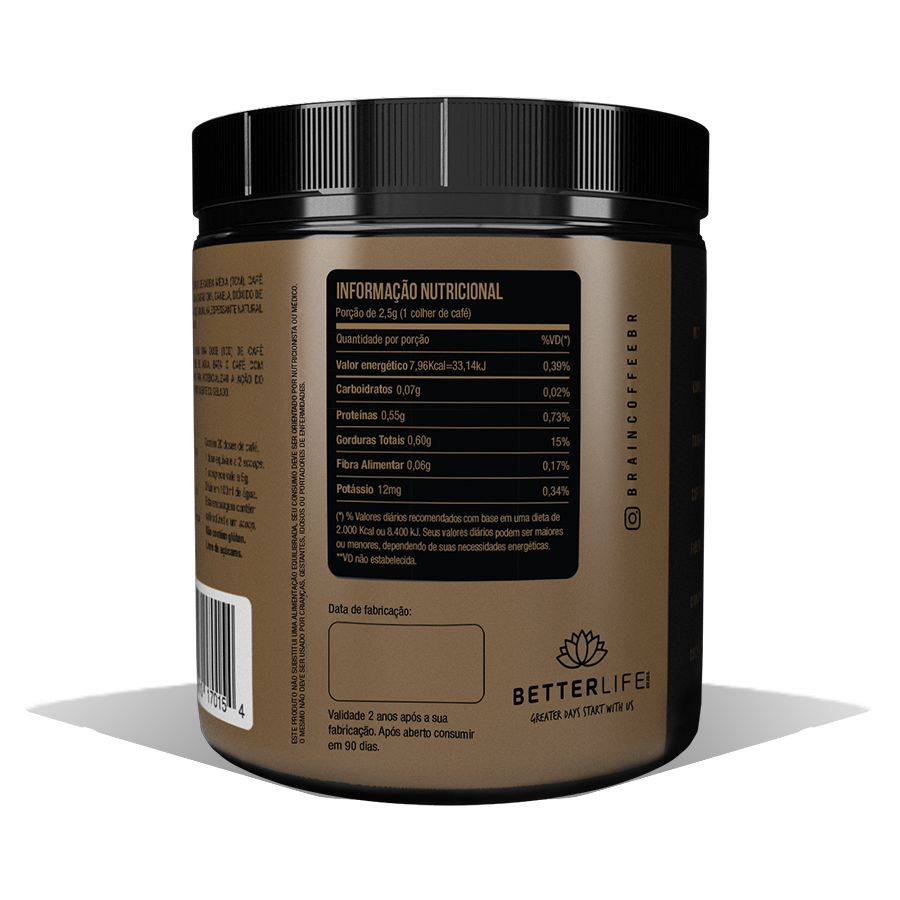 Brain Coffee 200g e MCT Powder Óleo de Coco 200g - BetterLife