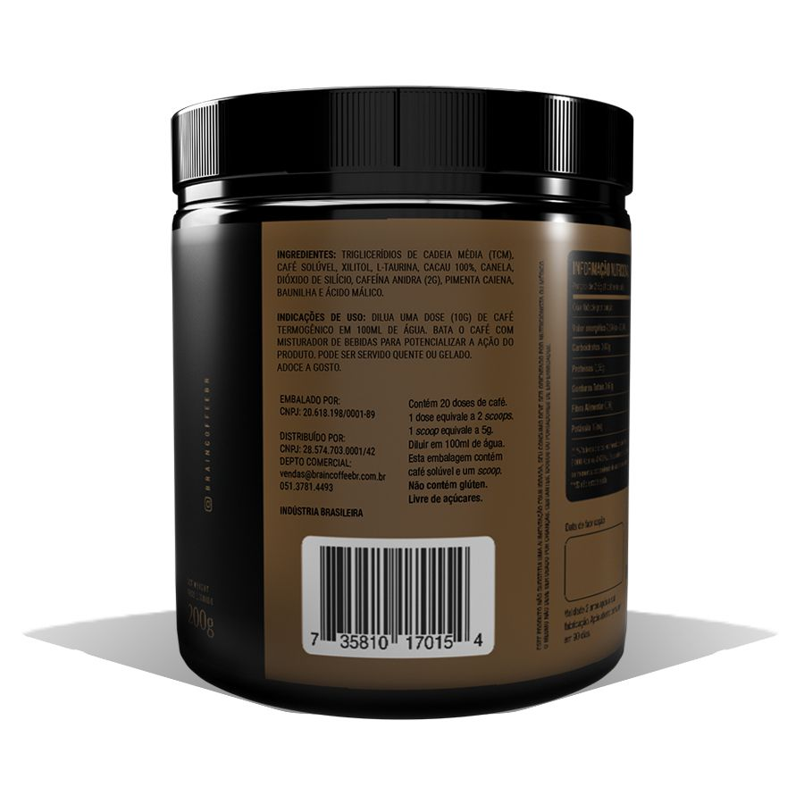 Brain Coffee com MCT Café Termogênico 200g BetterLife