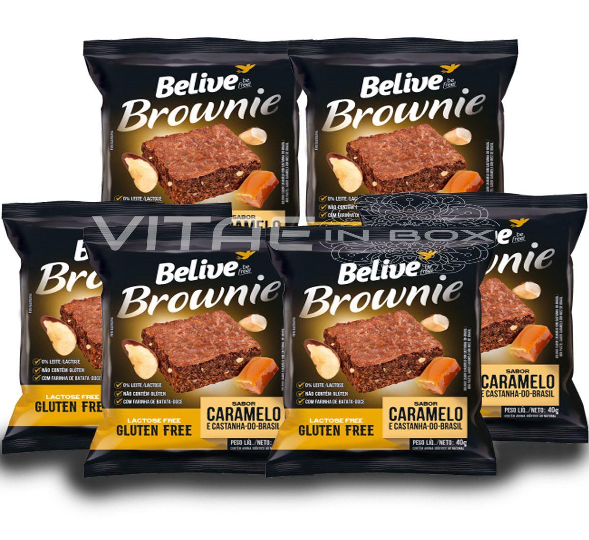 Brownie Caramelo com Castanhas do Brasil Sem Glúten Sem Lactose 06x40g - Belive