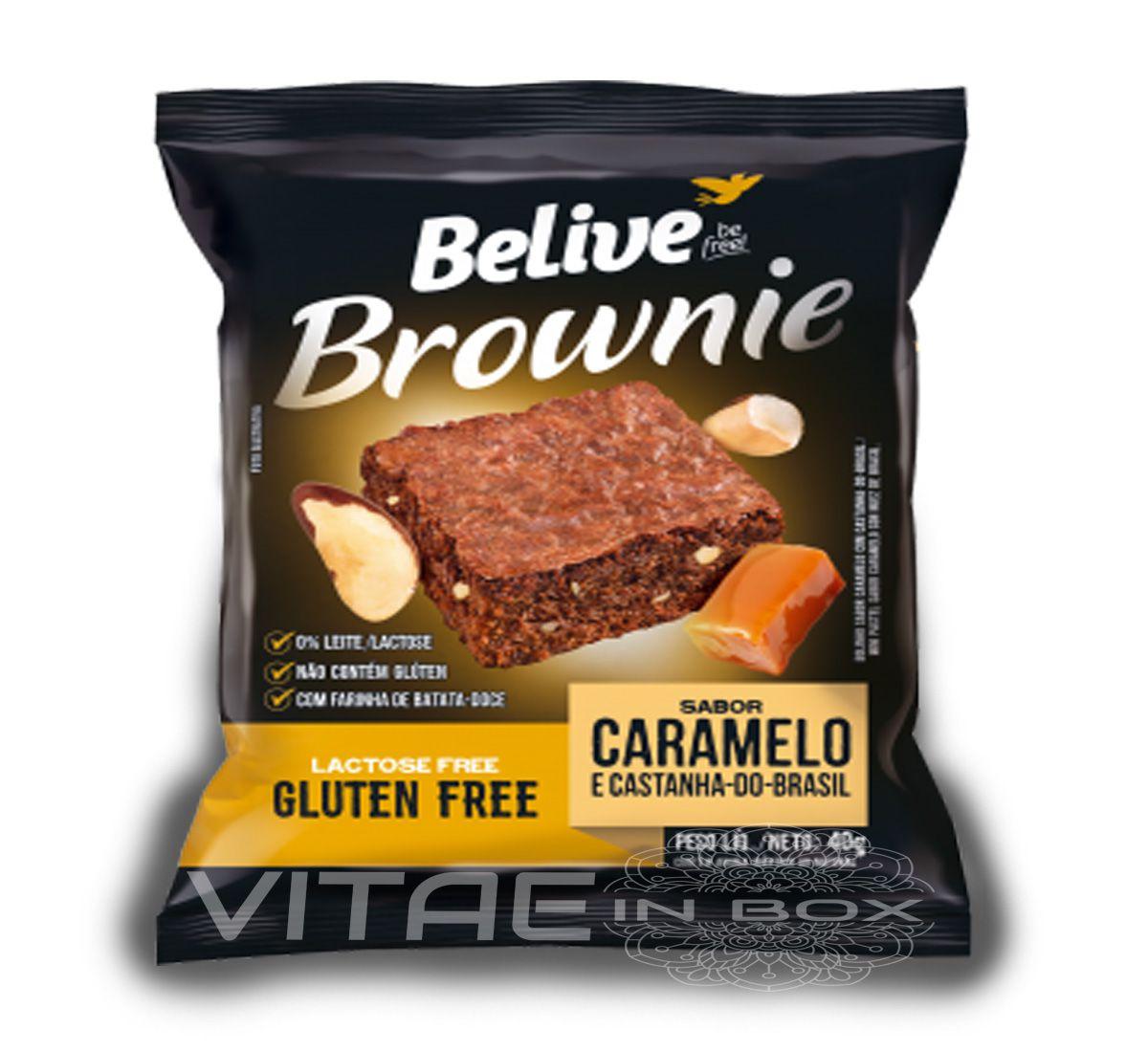 Brownie Caramelo e Castanhas do Brasil Sem Glúten Sem Lactose 40g - Belive