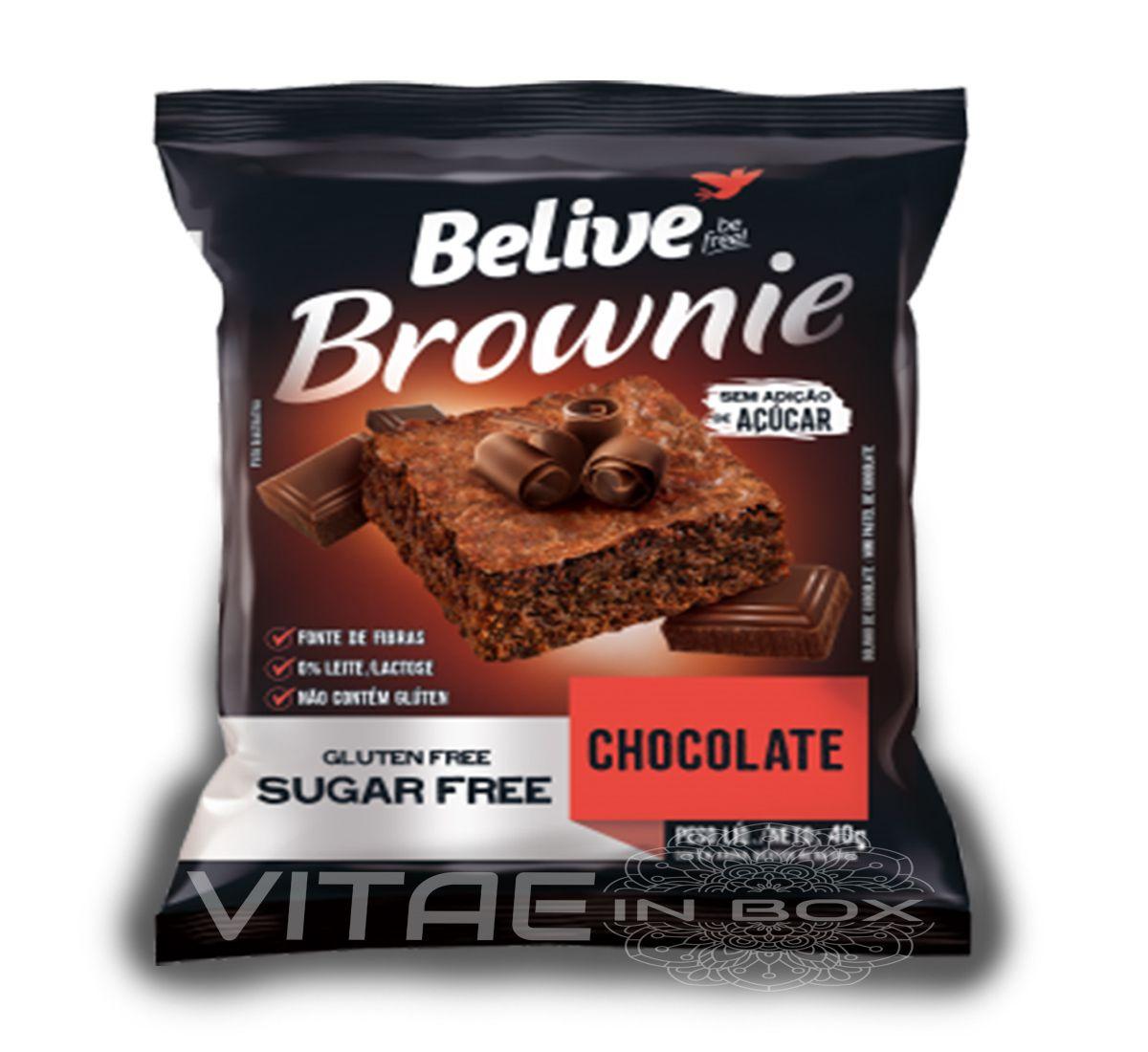 Brownie Chocolate Zero Açúcar 40g - Belive