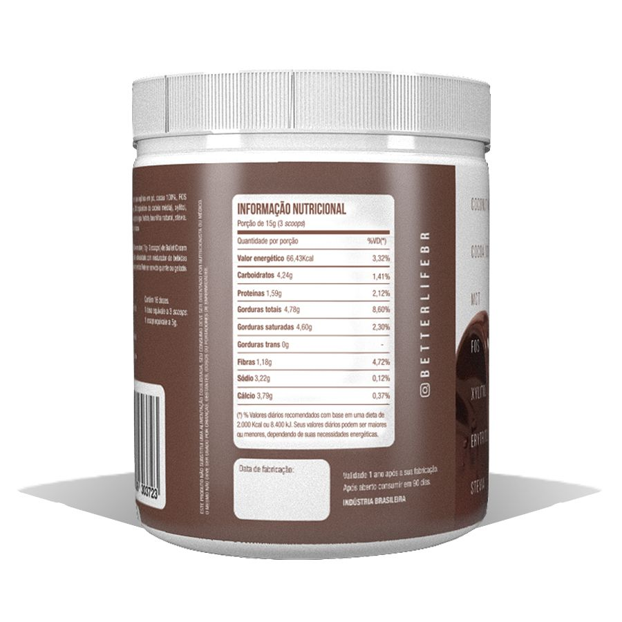 Bullet Cream com MCT 240g - Better Life