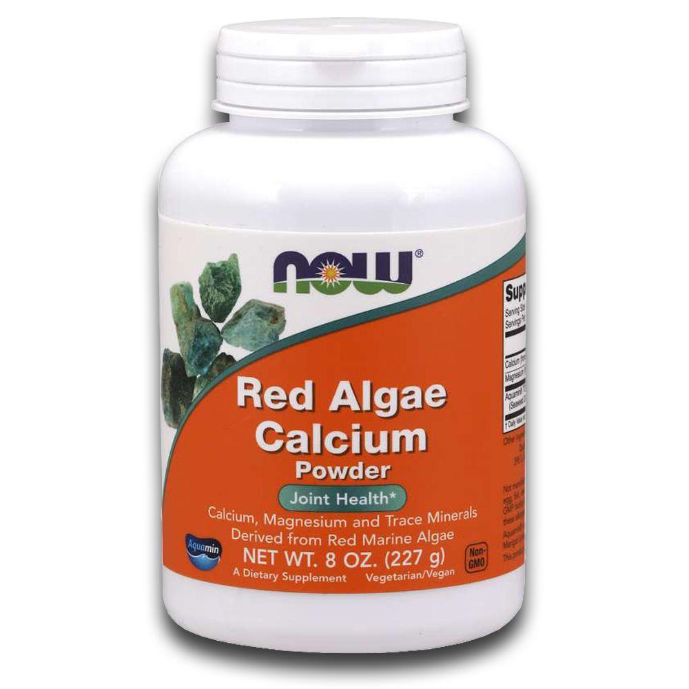 Cálcio de Algas Vermelhas em Pó Red Algae Calcium 227g Now
