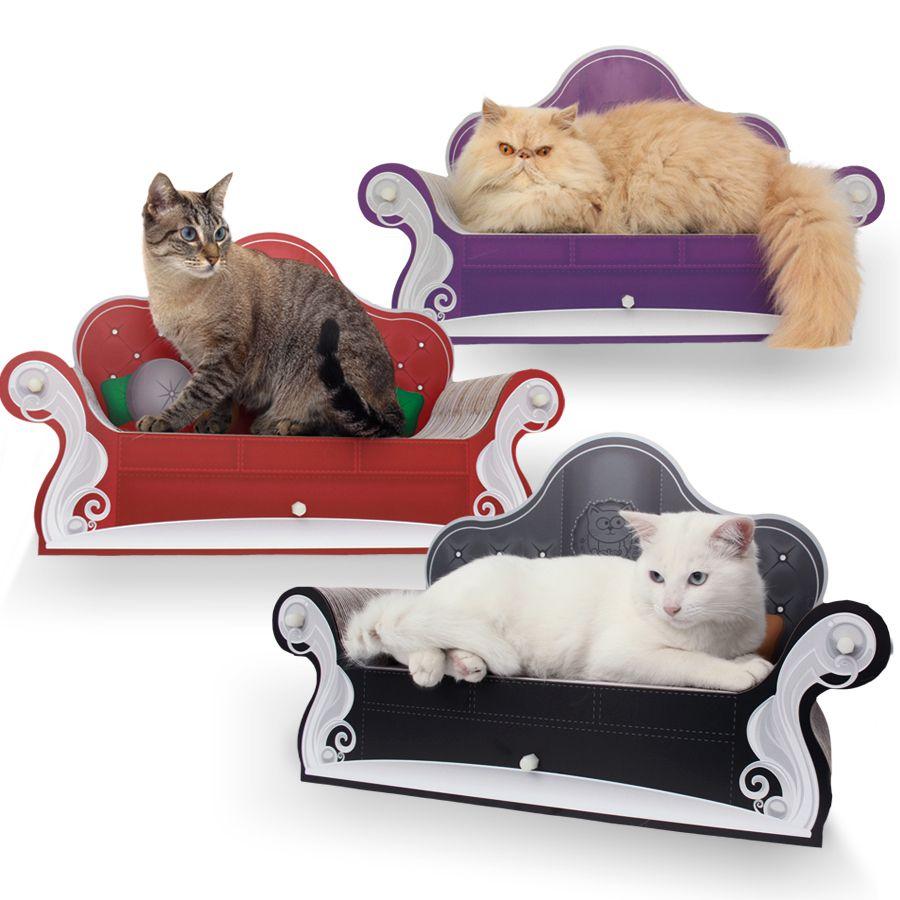 Cat Sofa Arranhador para Gatos Vernelho - CatMyPet